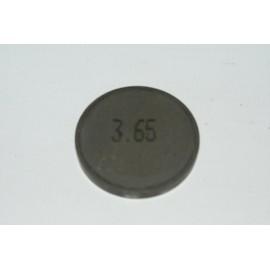 Einstellplättchen Ventil 3.65 mm