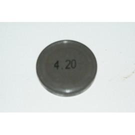 Einstellplättchen Ventil 4.20 mm