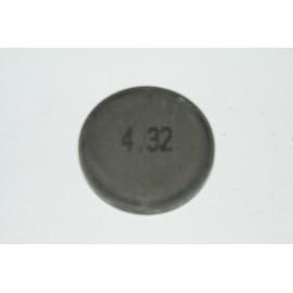Einstellplättchen Ventil 4.32 mm